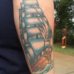 Kunstpark Airpark Tattoo Segelschiff
