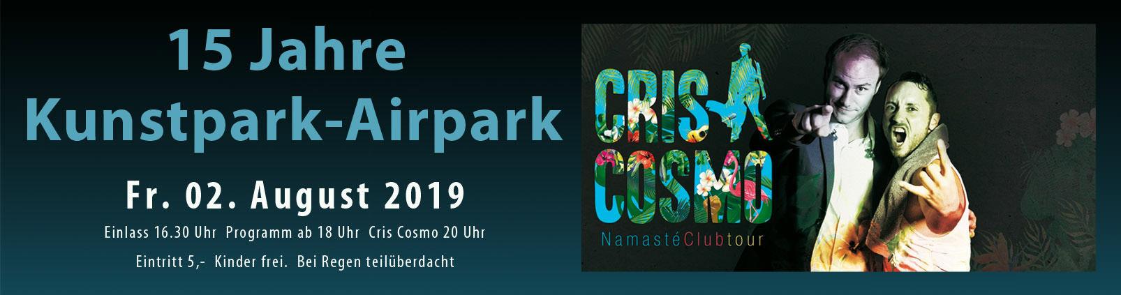 15 Jahre Kunstpark-Airpark – Live Musik Foodtruck Cocktails